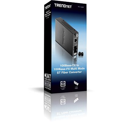 Convertidor de fibra ST multimodo de 100Base-TX a 100Base-FX
